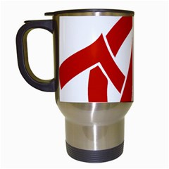 Hammer Sickle Anarchy Travel Mug (white) by youshidesign