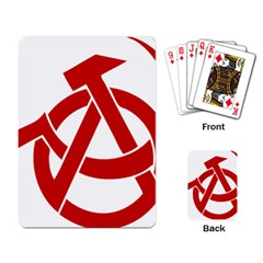 Hammer Sickle Anarchy Playing Cards Single Design by youshidesign