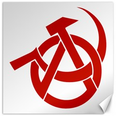 Hammer Sickle Anarchy Canvas 20  X 20  (unframed) by youshidesign