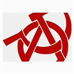 Hammer Sickle Anarchy Glasses Cloth (large, Two Sided) by youshidesign
