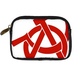 Hammer Sickle Anarchy Digital Camera Leather Case by youshidesign