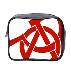 Hammer Sickle Anarchy Mini Travel Toiletry Bag (two Sides) by youshidesign
