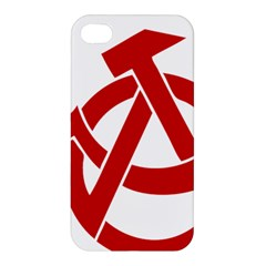 Hammer Sickle Anarchy Apple Iphone 4/4s Premium Hardshell Case by youshidesign