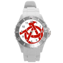 Hammer Sickle Anarchy Plastic Sport Watch (large) by youshidesign