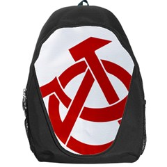 Hammer Sickle Anarchy Backpack Bag by youshidesign