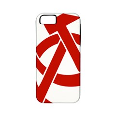 Hammer Sickle Anarchy Apple Iphone 5 Classic Hardshell Case (pc+silicone) by youshidesign