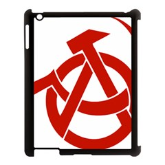 Hammer Sickle Anarchy Apple Ipad 3/4 Case (black) by youshidesign