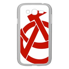 Hammer Sickle Anarchy Samsung Galaxy Grand Duos I9082 Case (white) by youshidesign