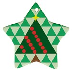 Holiday Triangles Star Ornament Front