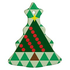 Holiday Triangles Christmas Tree Ornament