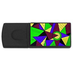 Modern 4gb Usb Flash Drive (rectangle) by Siebenhuehner
