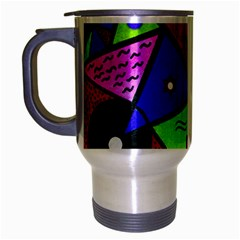 Modern Art Travel Mug (silver Gray) by Siebenhuehner