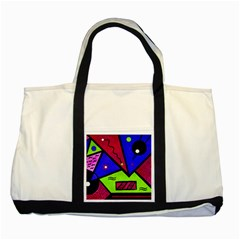 Modern Art Two Toned Tote Bag