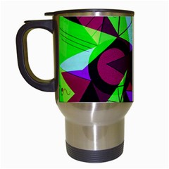 Modern Art Travel Mug (white) by Siebenhuehner