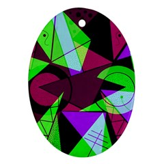 Modern Art Oval Ornament (two Sides) by Siebenhuehner