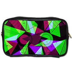 Modern Art Travel Toiletry Bag (one Side) by Siebenhuehner