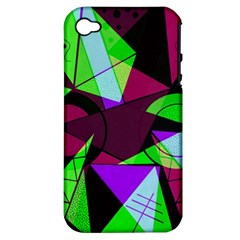 Modern Art Apple Iphone 4/4s Hardshell Case (pc+silicone)