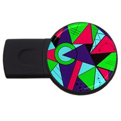Modern Art 4gb Usb Flash Drive (round)