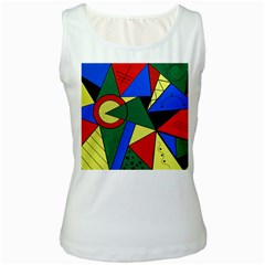 Modern Art Womens  Tank Top (white) by Siebenhuehner