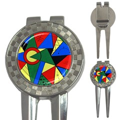 Modern Art Golf Pitchfork & Ball Marker by Siebenhuehner