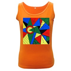 Modern Art Womens  Tank Top (dark Colored)