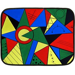 Modern Art Mini Fleece Blanket (two Sided)
