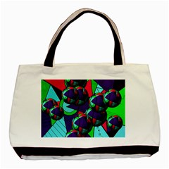 Balls Twin Sided Black Tote Bag by Siebenhuehner