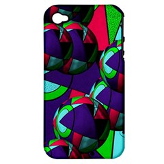 Balls Apple Iphone 4/4s Hardshell Case (pc+silicone)