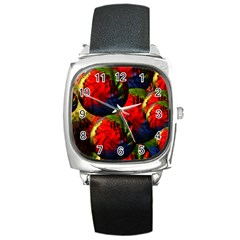 Balls Square Leather Watch by Siebenhuehner