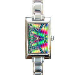 Modern Art Rectangular Italian Charm Watch by Siebenhuehner