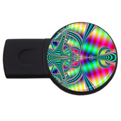 Modern Art 2gb Usb Flash Drive (round)