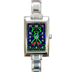 Dsign Rectangular Italian Charm Watch by Siebenhuehner