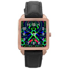 Dsign Rose Gold Leather Watch