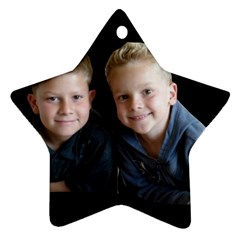 Deborah Veatch New Pic Design7  Star Ornament (two Sides)