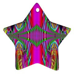 Modern Art Star Ornament (two Sides) by Siebenhuehner