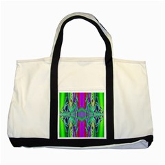 Modern Design Two Toned Tote Bag
