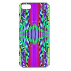 Modern Design Apple Seamless Iphone 5 Case (clear) by Siebenhuehner