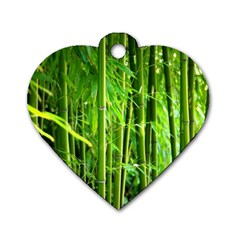Bamboo Dog Tag Heart (one Sided)  by Siebenhuehner