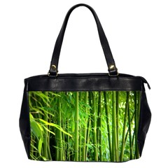 Bamboo Oversize Office Handbag (two Sides)