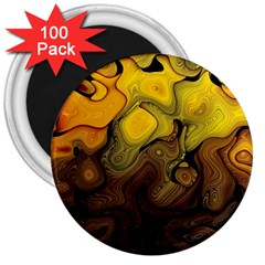 Modern Art 3  Button Magnet (100 Pack) by Siebenhuehner