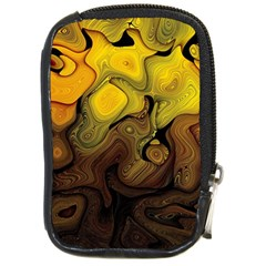 Modern Art Compact Camera Leather Case by Siebenhuehner