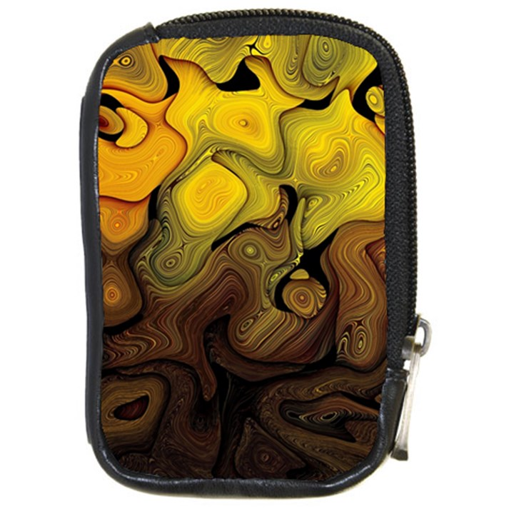 Modern Art Compact Camera Leather Case