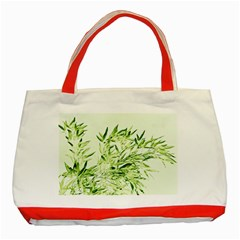 Bamboo Classic Tote Bag (red) by Siebenhuehner