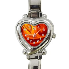 Wave Heart Italian Charm Watch  by Siebenhuehner