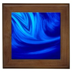 Wave Framed Ceramic Tile by Siebenhuehner