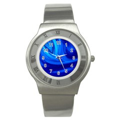 Wave Stainless Steel Watch (unisex)