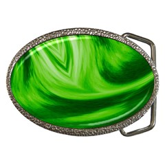 Wave Belt Buckle (oval)