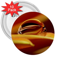 Waterdrop 3  Button (10 Pack) by Siebenhuehner