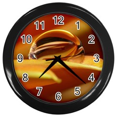 Waterdrop Wall Clock (black) by Siebenhuehner