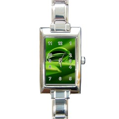 Waterdrop Rectangular Italian Charm Watch by Siebenhuehner